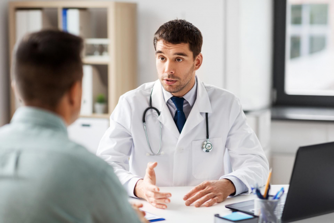 Physician discussing treatment options with patient